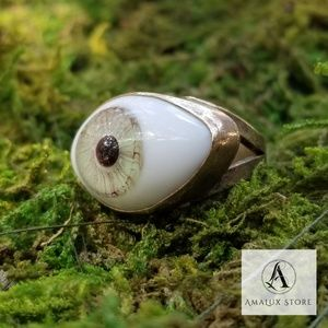 Jewelry - Realistic Green Evil Eye Ring